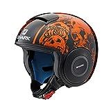 Y'S GEAR SHARK(シャーク) 【正規輸入品】 バイクヘルメット ジェット DRAK(ダラク) SANCTUS BLACK&ORANGE M(57~58cm) Q2C-LIK-Y02-M56