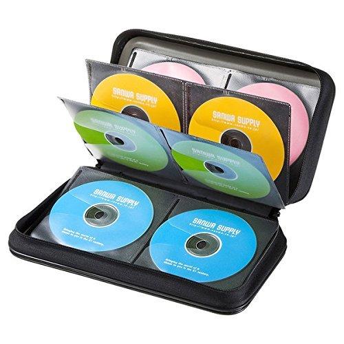 サンワサプライ DVD・CDセミハードケース(96枚収納・ブ...