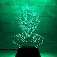 Xdorra 3Dタッチナイトライト ドラゴンボールライト 悟空電灯 3Dインテリアライト 多彩変色ライト 3Dランプ 男性プレゼント 静电防止 充電器つけ