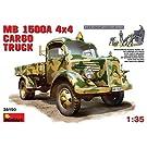 MiniArt 1/35 【MA35150】 MB 1500A 4×4 カーゴトラック フィギュア5体付