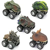 5 Pcs Pull Backおもちゃ車恐竜パーティーFavorおもちゃfor Kids