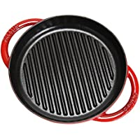 [ ストウブ ] Staub グリルパン 22cm ピュアグリル 12012206 チェリー Grill Round 2 Handles Cherry ステーキ バーベキュー BBQ 焼肉 鉄板 [並行輸入品]