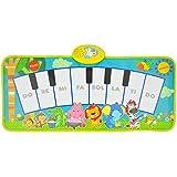 TLMYDD ビデオゲーム毛布子供の音楽毛布子供の幼児教育パズルドラムジャズドラム男の子のおもちゃ誕生日プレゼント キッズキーボードピアノ (Color : A)