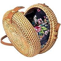 Wicker Straw Purse Rattan Bag Handwoven Women Shoulder Crossbody Summer Beach