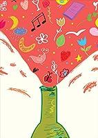 ポスター ウォールステッカー シール式ステッカー 飾り 515×728㎜ B2 写真 フォト 壁 インテリア おしゃれ 剥がせる wall sticker poster pb2wsxxxxx-006014-ds ラブリー イラスト カクテル