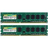 シリコンパワー デスクトップPC用メモリ 240Pin DDR3 1600 PC3-12800 4GB×2枚 永久保証 SP008GBLTU160N22