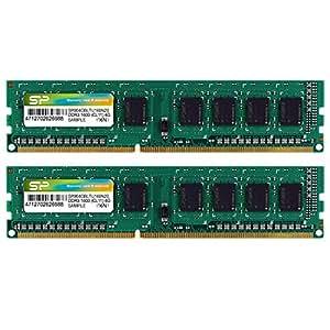 シリコンパワー デスクトップPC用メモリ 240Pin DDR3 1600 PC3-12800 Mac対応 4GB×2枚 永久保証 SP008GBLTU160N22
