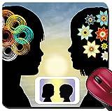 Liili Suqareパッド8x 8インチ/マットマウスパッドID : 29126494スマート電話Kidsモダン間の通信男の子と女の子、刺激インテリジェン..