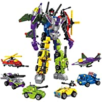 6 in 1 ミニ DIY 変形 ロボット 教育 組み立てブロック おもちゃ マルチカラー 6756784