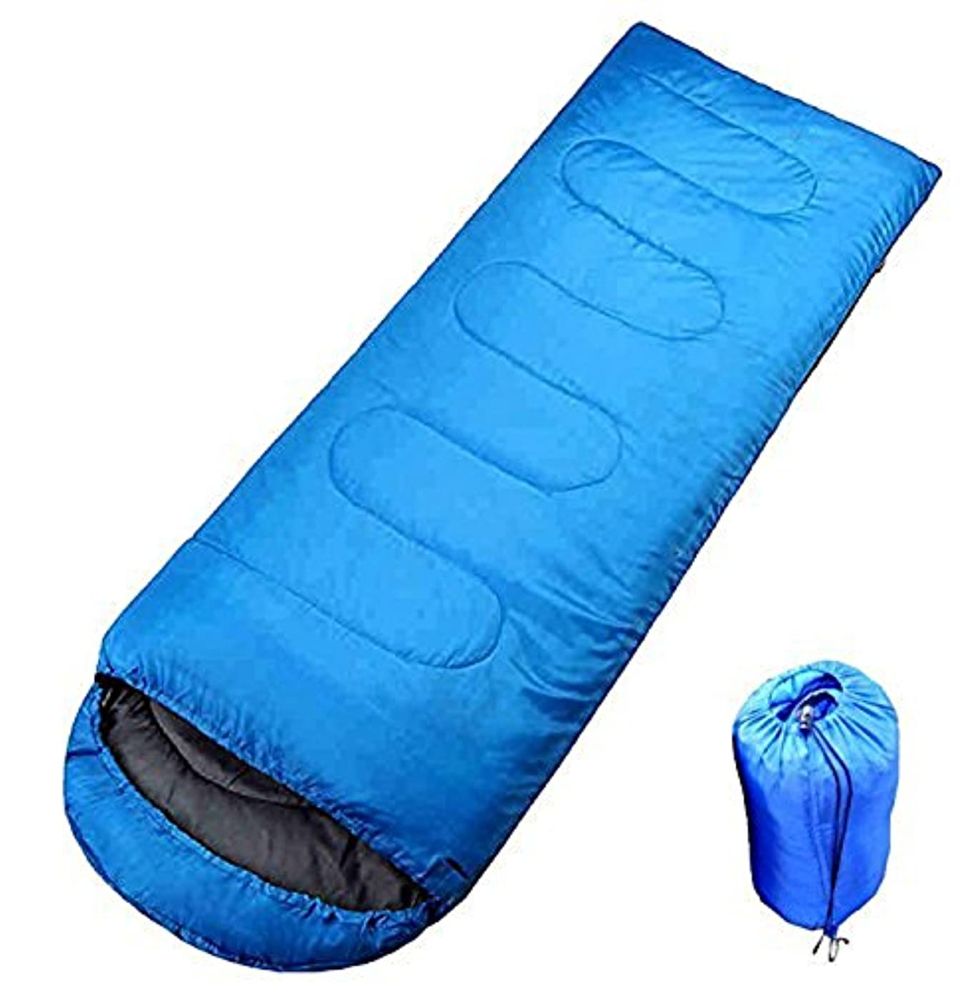 抵抗する放散する飛行機Aoakua 丸洗いOK スリーピングバッグ 封筒型 寝袋 シュラフ [適正温度:5℃~20℃]