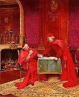 手描き-キャンバスの油絵 - The Winning Hand classicism anti clerical Georges Croegaert 芸術 作品 洋画 ウォールアートデコレーション -サイズ05