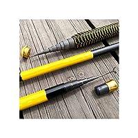 魚タックル伸縮釣りロッドキャスティング超軽量超硬3.6 / 4.5 / 5.4 / 6.3 / 7.2メートルストリームハンドポールカーボンファイバー、イエロー、6.3 M
