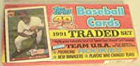 Topps 1991Traded野球セット132カード–Sealed