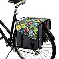 BikyBag Classic S - 自転車用ダブル・パニエ (グレーデイジー)