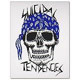 SUICIDAL TENDENCIES Blue Bandana Sticker スイサイダルテンデンシーズ ブルーバンダナステッカー