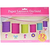 Amscan Flowers and Butterflies Girl's 1st Birthday Party Paper Lantern Garland(6 Piece) [並行輸入品]