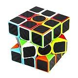 スピードキューブ3x3 ステッカー 炭素繊維のステッカースピードキュー 競技用 脳トレ  立体パズル  スピードキューブ (Luxury EDC Infinity Cube) キューブ  おもちゃ ストレス解消  ADD & ADHD 集中力を向上し 不安を軽減し 知育おもちゃ (黒色, スピードキューブ3x3 ステッカー)