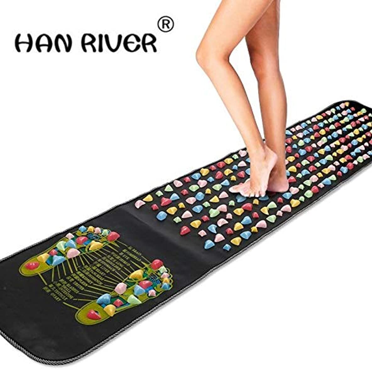 不均一トロピカルかき混ぜるHANRIVER Home comfortable foot massager massage cushion gravel road massage mat mat