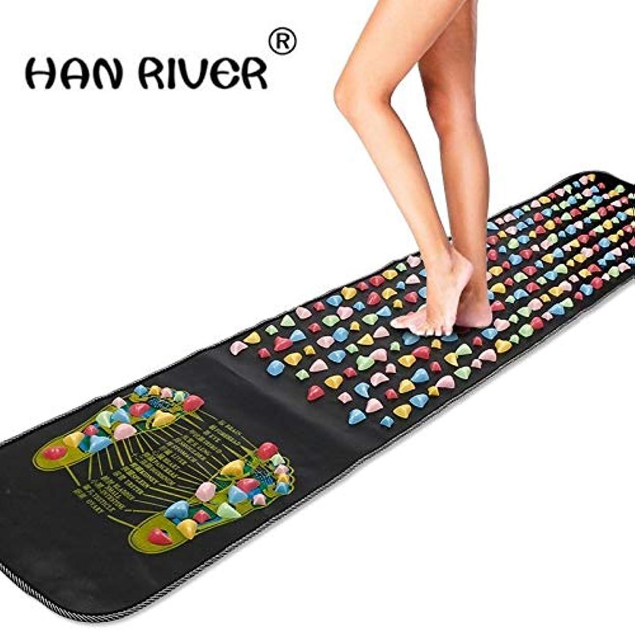 ニュース中央値退院HANRIVER Home comfortable foot massager massage cushion gravel road massage mat mat