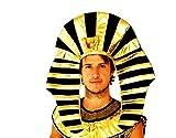 【 mind fashion 】 帽子 被り物 ファラオ 王様 エジプト フリーサイズ 大人用 仮装 ハロウィン