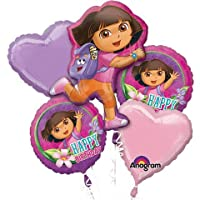 1 X Dora The Explorer Happy Birthday Mylar Foil Balloon Bouquet Set by Anagram