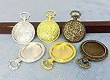 ▲ミール皿 懐中時計 A 5個入り 内径20mm 奧2mm 外寸38*26mm 厚5mm 真鍮古美 シルバー ゴールド 3色展開 セッティング ビンテージ 真鍮古美