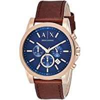 Armani Exchange AX2508 Dark Brown Stainless Steel & Leather Watch