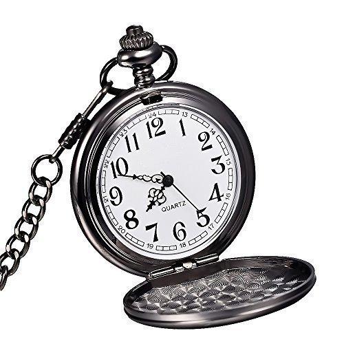 WOLFTEETH 懐中時計 スムースビンテージ ブラックスチール黒鋼 メンズ