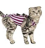 イケノコイ 術後服 猫用 タイト 不妊手術 二枚セット 着替え (L 3.75~4.5kg)