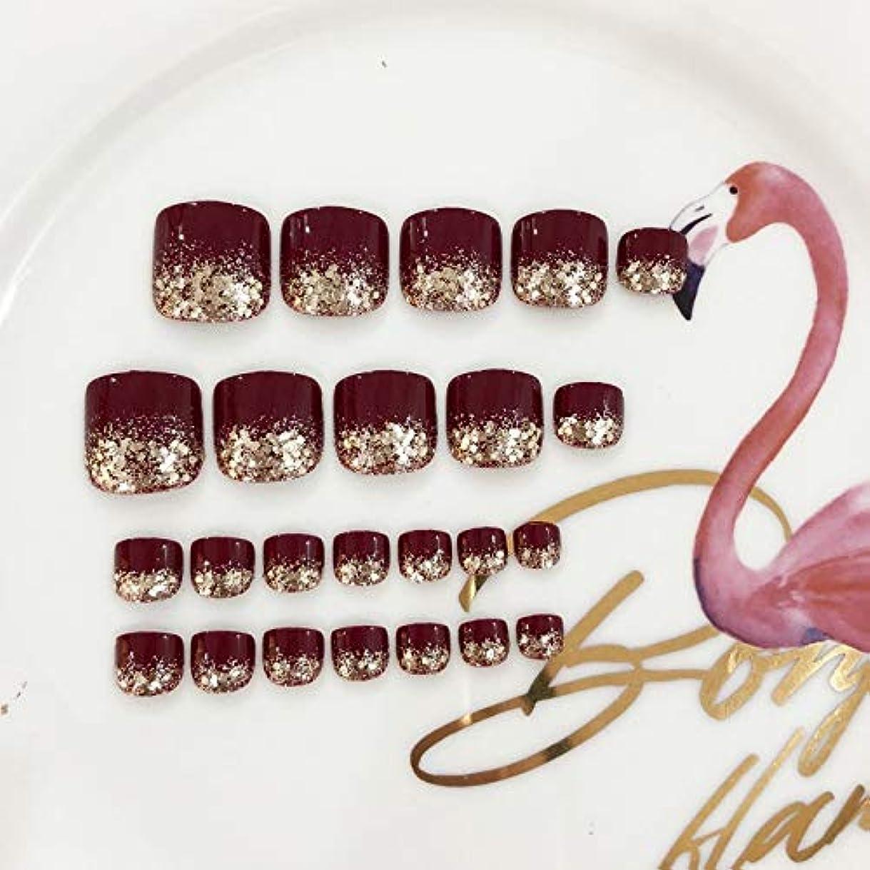 横買い物に行くキャプチャーXUANHU HOME 偽爪キット24個入り赤と輝きのスパンコールフレンチマニキュア偽爪と接着剤フルカバーミディアムの長さ