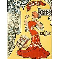 De Rose Creme Express Cream Nouveau Advert Extra Large Wall Art Print Premium Canvas Mural ローズヌーボー広告壁