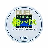 デュエル(DUEL) ライン(フロロカーボン): H.D.カーボン船ハリス 100m 3号 : クリアー