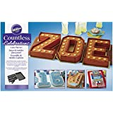 Wilton Countless Celebrations Cake Pan Set, 10-Piece Letter and Number Cake Pan
