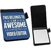 ブルーこのBelongs to an Awesomeビデオエディタ小さなメモ帳199by Dukeギフ&#1