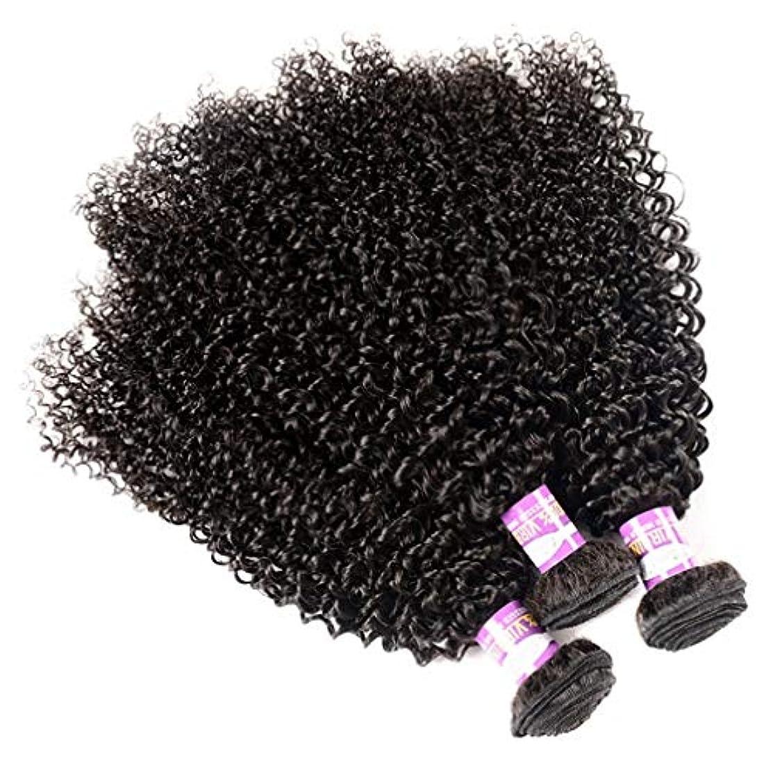 ネスト時計回り法廷女性ブラジル人髪織りバージン人毛体波100%人毛織りナチュラルブラックカラー(3バンドル)