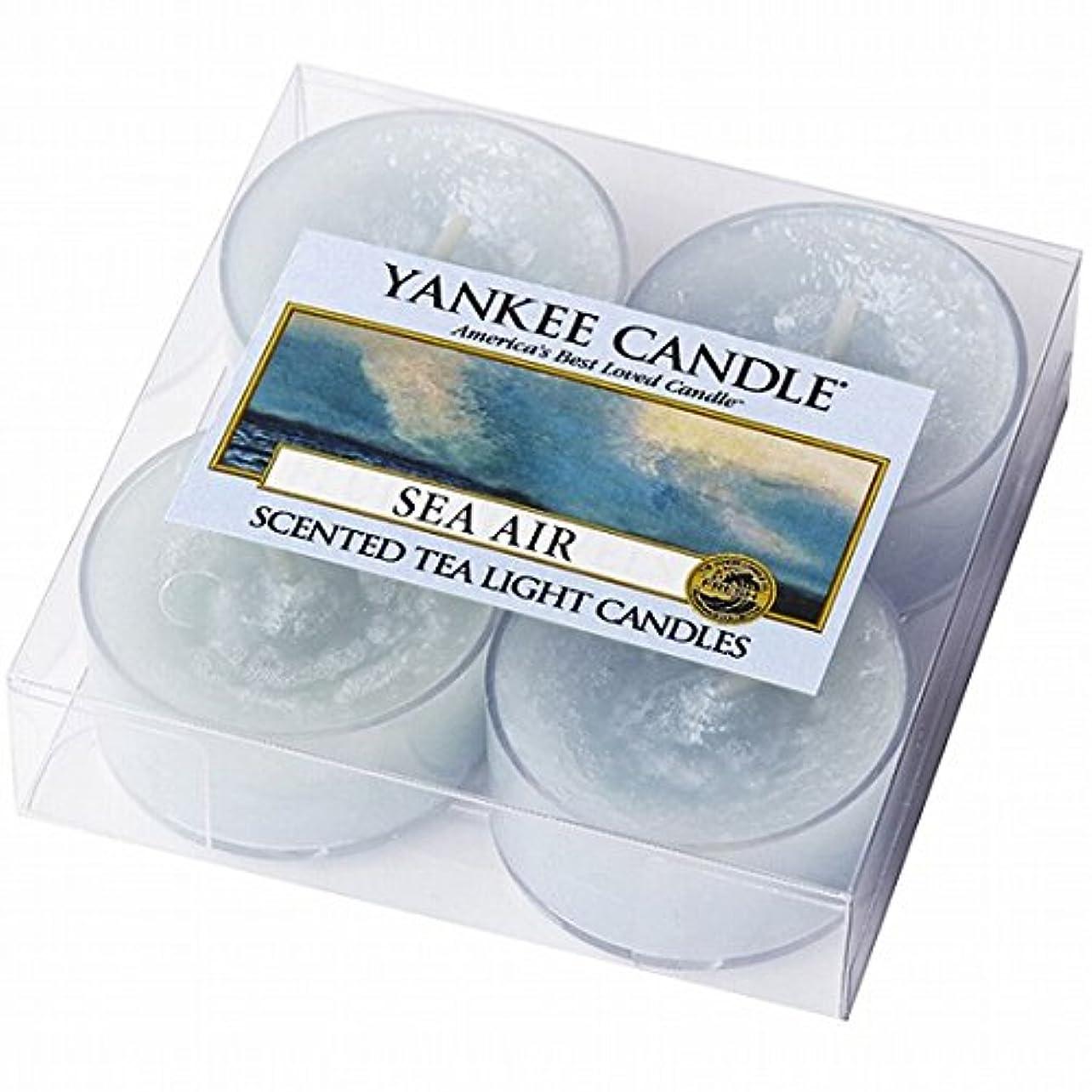 イサカ人形縮れたヤンキーキャンドル(YANKEE CANDLE) YANKEE CANDLE クリアカップティーライト4個入り 「シーエアー」