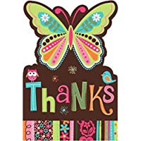 Amscan Hippie Chick Birthday Party Thank You Cards Supply (8 Pack) 6 1/4 x 4 1/4 Multicolor [並行輸入品]
