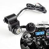 キジマ(Kijima) USBポートキット USB2ポートトータルDC5V/2.1A ハンドルクランプ 304-622 バイク オートバイ 二輪用