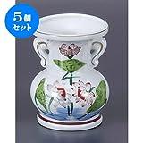 5個セット 仏具 錦5.5玉仏花瓶 [16.8cm] 仏具 神具 供養 お墓 仏壇 お盆 お彼岸