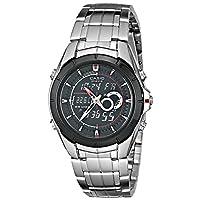 Casio Men's EFA119BK-1AV Ana-Digi Edifice Stainless Steel Watch