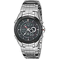 Casio Men's EFA119BK-1AV Ana-Digi Edifice Thermometer Bracelet Watch 【並行輸入品】