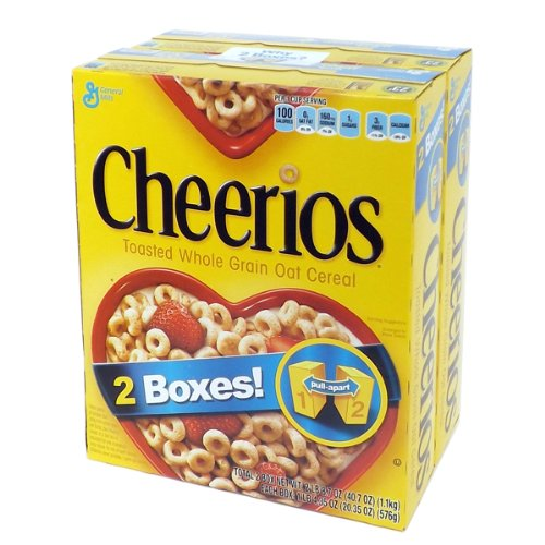 Cheerios チェリオ オーツ麦シリアル ツインパック 1.1kg  Cheerios Toasted Whole Grain Oat Cereal 2-bag Twin Pack  1.1kg