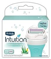 Schick Intuition Naturals Sensitive Care Cartridges 3pk
