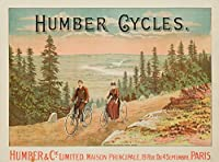HumberサイクルヴィンテージポスターEngland c。1898 12 x 18 Art Print LANT-61681-12x18