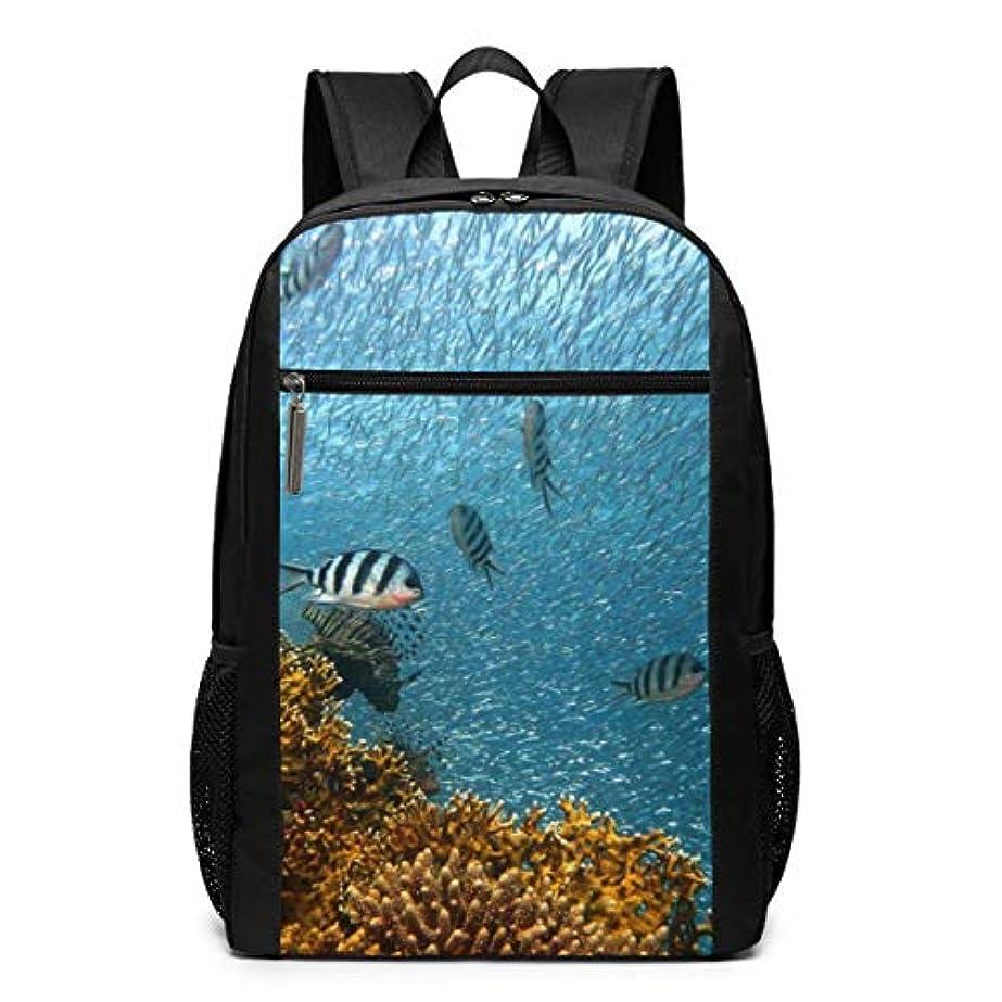 抽選ぬれたローラーMy Life リュックサック 魚 水中 ダイビング 水 メンズ バックパック リ ュック デイパック 大 おしゃれ 出張/旅行/通勤/アウトドアに適用 大容量 多機能 人気 学生 高校生 (17インチ)