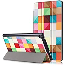 All Amazon Fire HD 8 Slim-Fit Lightweight Trifold Cover Stand xinyitong Smart Cover Case with Auto Sleep/Wake for Amazon Fire HD 8 (7th Generation, 2017 ,2018 Release) (Colored Grid)