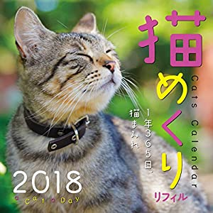 猫めくり 2018年 カレンダー リフィル 日めくり CK-C18-02