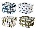 Lannu Home Decor Fabric Storage Bins Basket Cloth Collapsible Box Organizers Baskets liner Shelves 4 Pack 並行輸入品