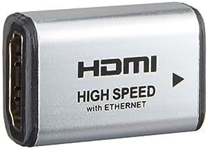 HORIC HDMI 中継アダプタ シルバー HDMIタイプAメス-HDMIタイプAメス HDMIF-HDMIF