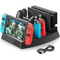 Nintendo switch 多機能充電スタンド KetenTech 充電台 Switch Proコントローラー Joy-Conグリップ Nintendo switch充電ドック Androidスマホ対応充電 充電ホルダー チャージャー